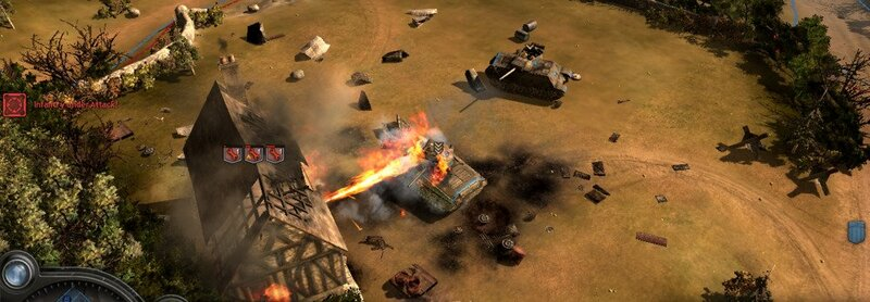 Company Of Heroes Tank Gameplay