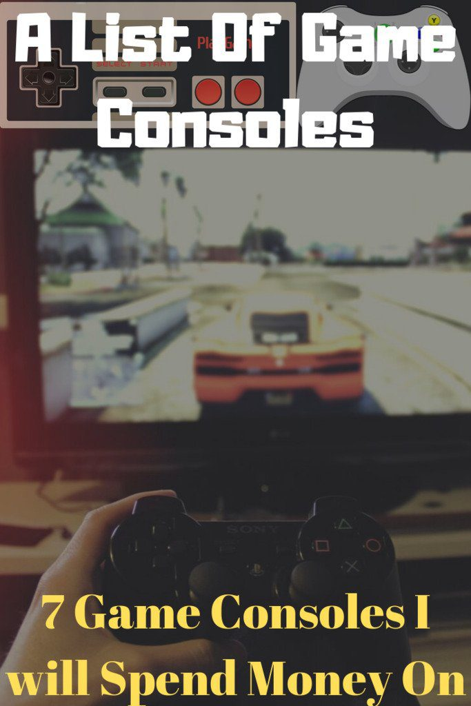 Playing a video game holding a Sony Playstation game console controler with race car on TV screen