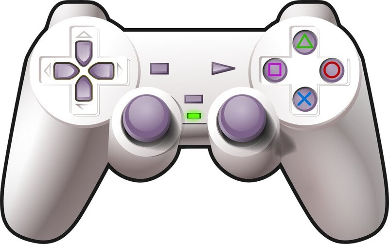 2D pixel art of video game controler similar to XBOX