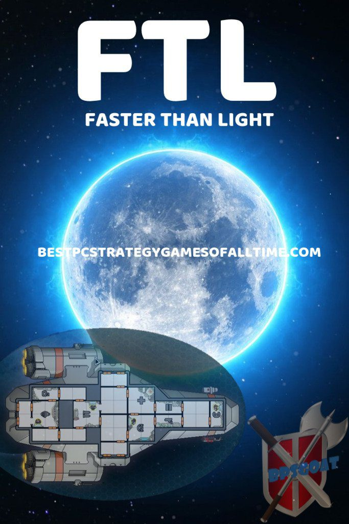 Faster Than Light Game with Space Ship and Space Background